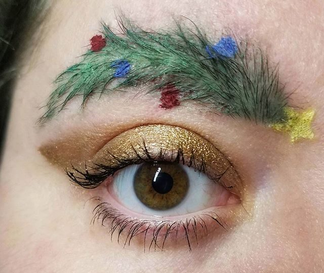 Christmas Eyebrows